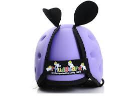 cascos para proteger la cabeza del bebe color lila