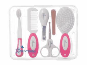 Kit de Aseo Dreambaby Rosado higiene infantil lima cepillo dental para bebe cortauñas infantil peine infantil