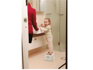 Taburete para baño de 1 paso banco escalón para baño seguridad infantil entrenamiento para el baño